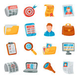 Job search icons vector set. Stock Photography
