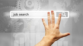 Job search on internet. Man searching job on internet Royalty Free Stock Images