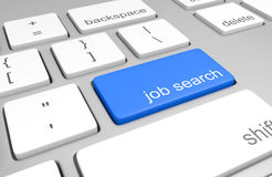 Job search key on a computer keyboard Royalty Free Stock Photo