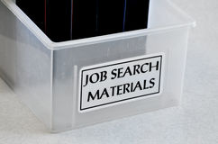 Job Search Materials to Help Assist in Finding Employment Stock Image