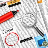 Job Search in Newspaper Stock Photography