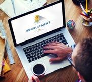 Job Search Occupation Recruitment We ' com referência ao conceito de aluguer foto de stock