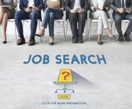 Job Search Occupation Recruitment We ' com referência ao conceito de aluguer imagem de stock royalty free