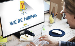 Job Search Occupation Recruitment We're Hiring Concept Stock Photos