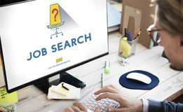 Job Search Occupation Recruitment We`re Hiring Concept Stock Images