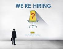 Job Search Occupation Recruitment We y x27; re concepto de alquiler Fotos de archivo