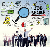 Job Search Qualification Resume Recruitment Hiring Application C. Oncept Stock Image