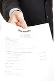 Job Search - Resume Stock Image