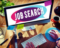 Job Search Searching Career Applications-Konzept Lizenzfreies Stockfoto