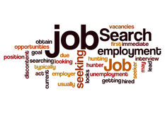 Job search seeking employment concept background. Job search seeking employment concept word cloud background Stock Photography
