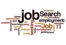 Job search seeking employment concept background. Job search seeking employment concept word cloud background vector illustration