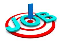 Job search on target. A job search on a target royalty free stock photography