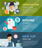 Job search after university infographic. Students Royalty Free Stock Photos