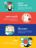 Job search after university infographic. Students Royalty Free Stock Images