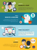 Job search after university infographic. Students Stock Images