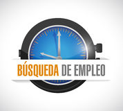 Job search watch sign concept in Spanish Royalty Free Stock Photo