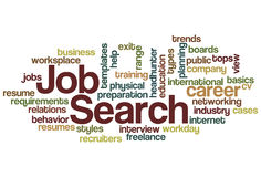 Job Search Word Cloud Stock Photos