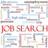 Job Search Word Cloud Concept stock illustration