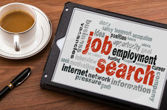 Job search word cloud Stock Photo