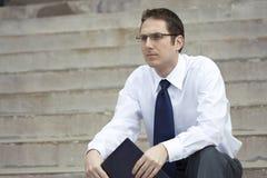 Job Searching Businessman Royalty Free Stock Image