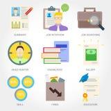 Job searching flat design icon Stock Photo