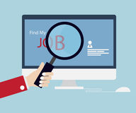 Job Searching Online Vector libre illustration