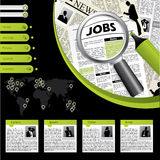 Job searching website template Stock Photos