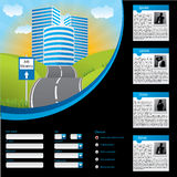 Job searching website template design Royalty Free Stock Images