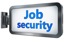 Job security on billboard. Job security wall light box billboard background , isolated on white Royalty Free Stock Image