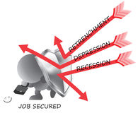Free Job Security Worker Man Shielded From Retrenchment Stock Photo - 22049060