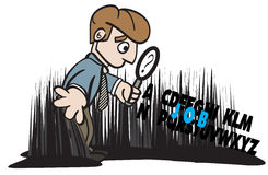 Job Seeker Looking Seeking for Job Illustration Stock Photo
