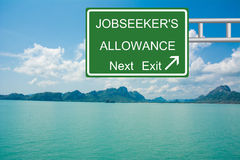 Job seeker's allowance next exit Royalty Free Stock Photography