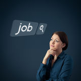 Job seeking royalty free stock photos