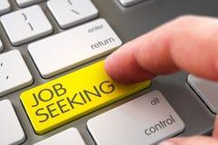 Job Seeking - concetto moderno della tastiera 3d Fotografia Stock Libera da Diritti