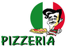 JOB-SERIEN-Pizza   Lizenzfreies Stockbild
