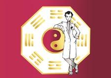 Job series - asian therapist vector illustration