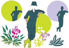 Gardener Man, flowers Grass, Cartoon Stock Photography