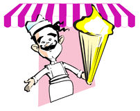 JOB SERIES ice cream Stock Images