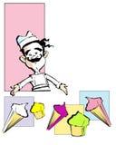 JOB SERIES ice cream Royalty Free Stock Images