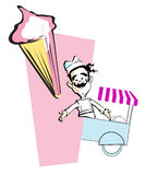JOB SERIES ice cream stock illustration