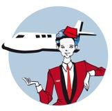 Job series - stewardess Royalty Free Stock Images