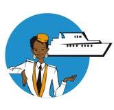 Job series - stewardess Stock Photography
