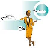 Job series - stewardess Royalty Free Stock Photo