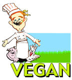 JOB SERIES vegan cook royalty free stock photo
