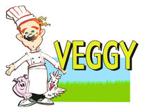 JOB SERIES vegan cook Royalty Free Stock Photography