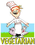 JOB SERIES vegetarian cook royalty free stock images