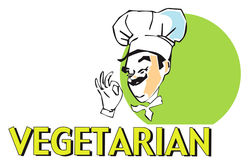 JOB SERIES vegetarian cook Stock Images