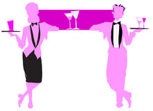 Job series -waitress  waiter Royalty Free Stock Photos