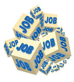 Job. On several cubes for a corporate Royalty Free Stock Image