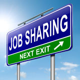 Job sharing concept. Royalty Free Stock Photos